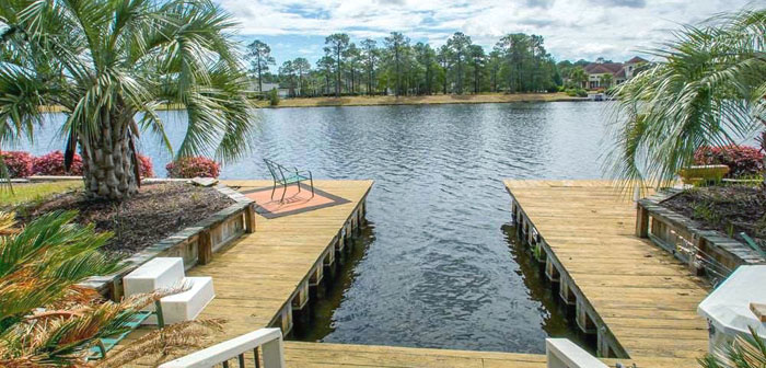 Private Boat Dock in Plantation Lakes