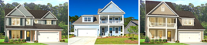 2-story homes in The Parks at Carolina Forest