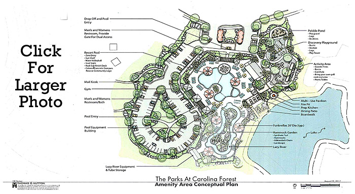 Amenity Map for The Parks at Carolina Forest