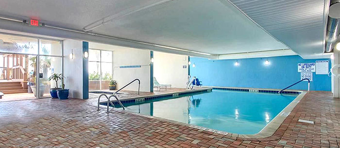 Indoor Pool At Waters Edge Resort