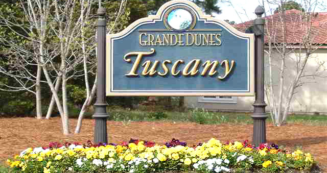 Entrance to Homes in Tuscany Village Grande Dunes