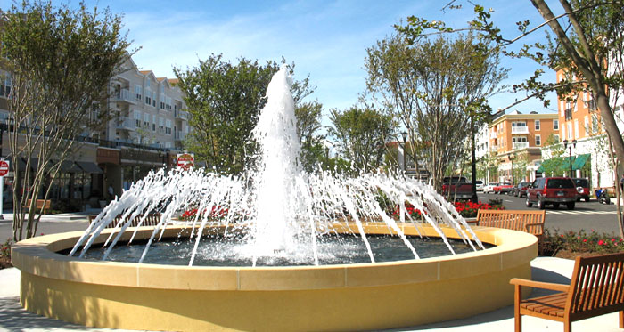 Market Common Fountain in Retail District