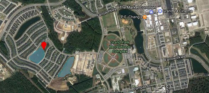 Satellite View of Park Place at Market Common