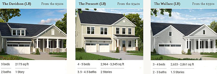 Longwood Bluffs Model Homes
