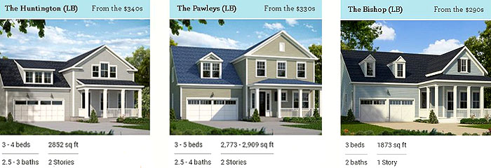 Longwood Bluffs Home Models