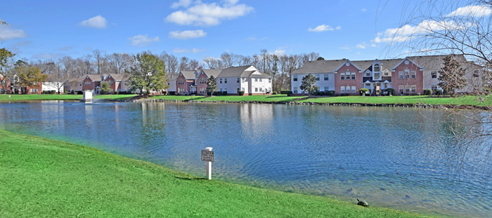 Lake in Riverwood Condo Complex