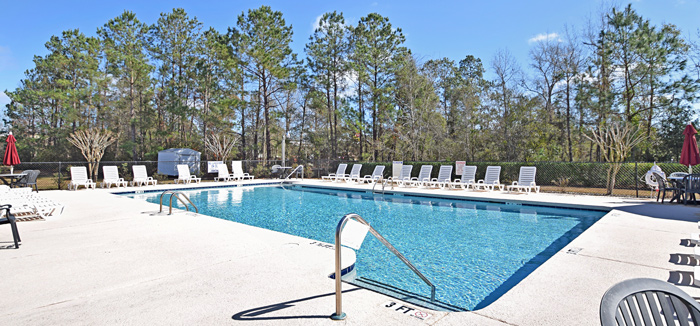 Pool in Riverwood Condo Complex