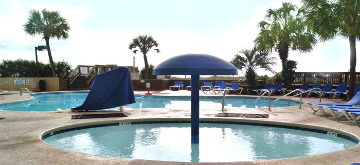 Pool at Beach Cove Resort