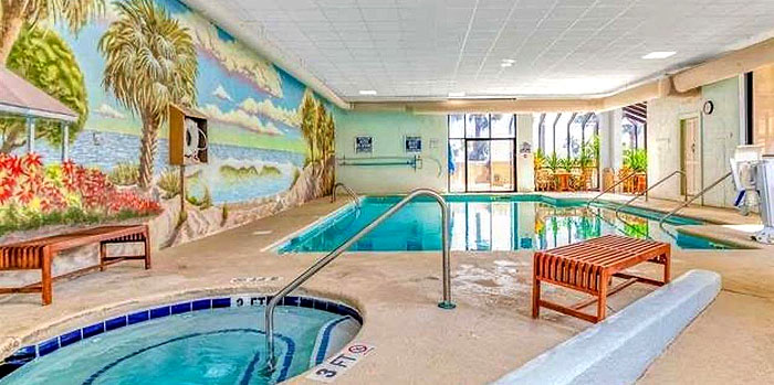 Indoor Pool and Jacuzzi at Ocean Forest Plaza
