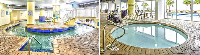 Indoor pool and jacuzzi at Paradise Resort