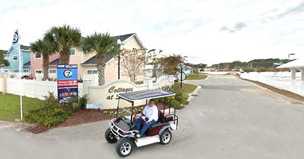 Golf Carts in Cottages at 7th