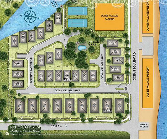 Ocean Village Site Plan