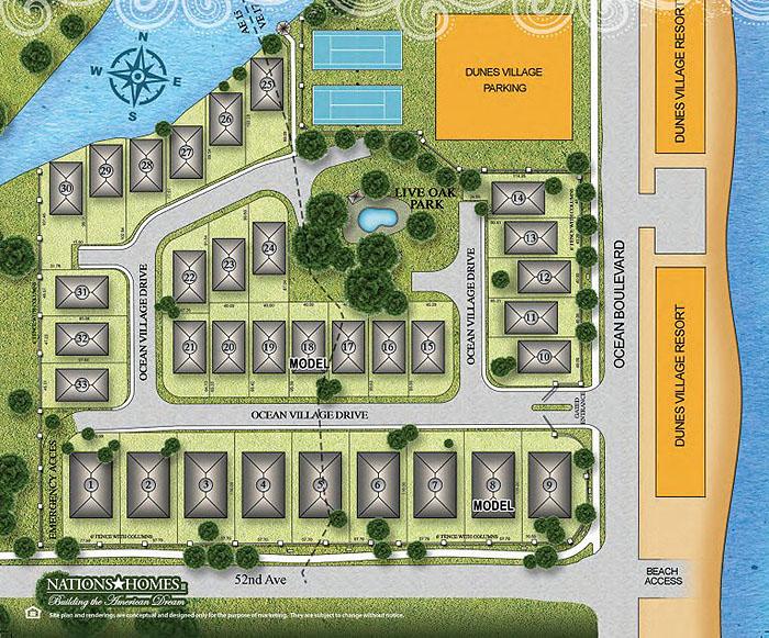 Ocean Village Site Plan