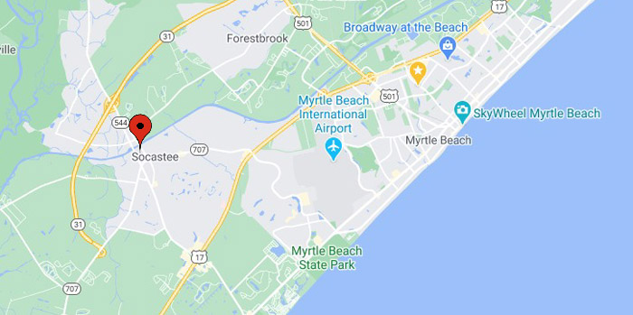 Future Location of Oyster Bluff in south Myrtle Beach