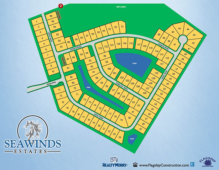 Seawinds Estates - New Community Sitemap