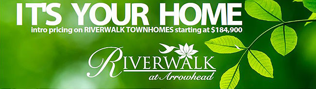 New Townhomes for Sale in Riverwalk II