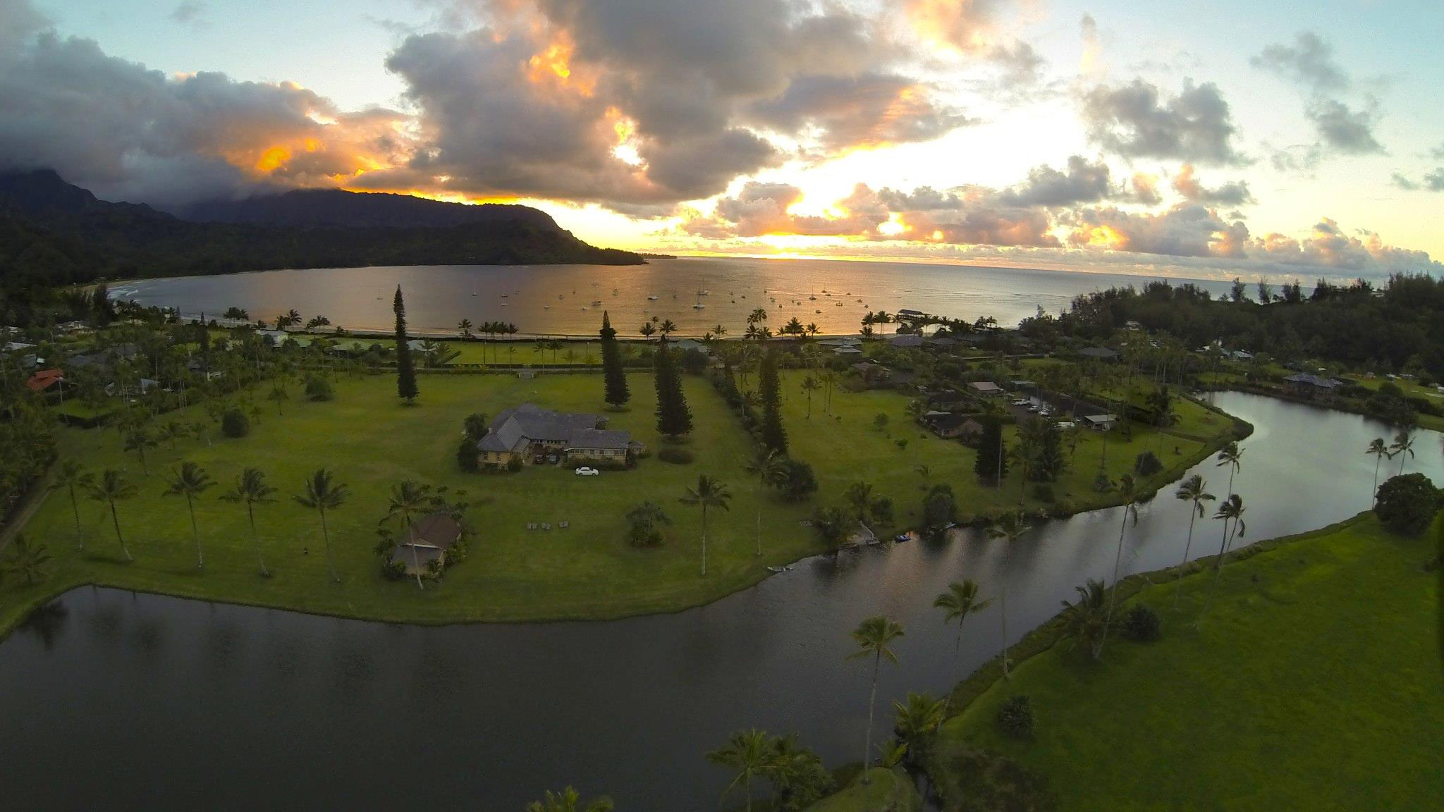 Hanalei Bay Kauai Trail view