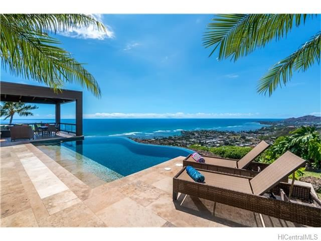 Hawaii Loa Ridge Pool Ocean View