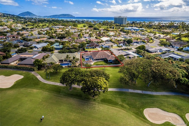 Waialae Golf Course Home on Waiholo