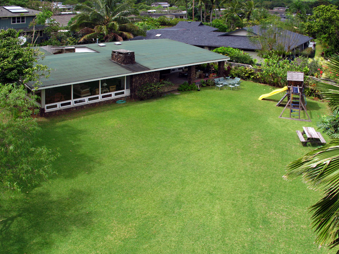 Aerial Shot of Large Maunawili Lot