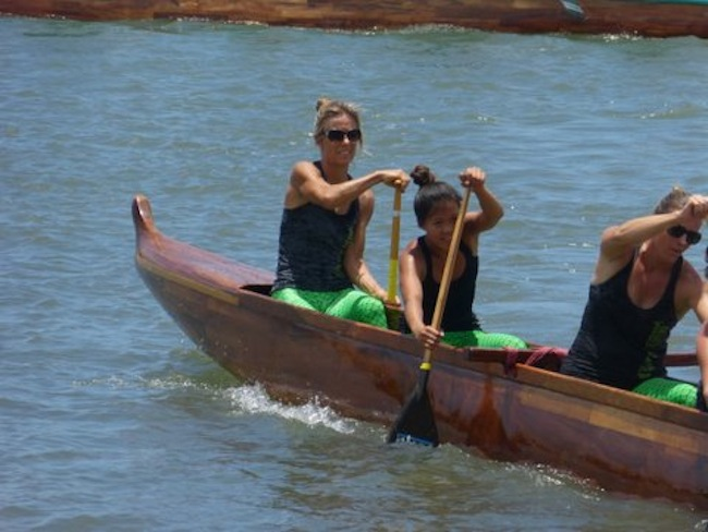 Lorraine Steering a Canoe at States