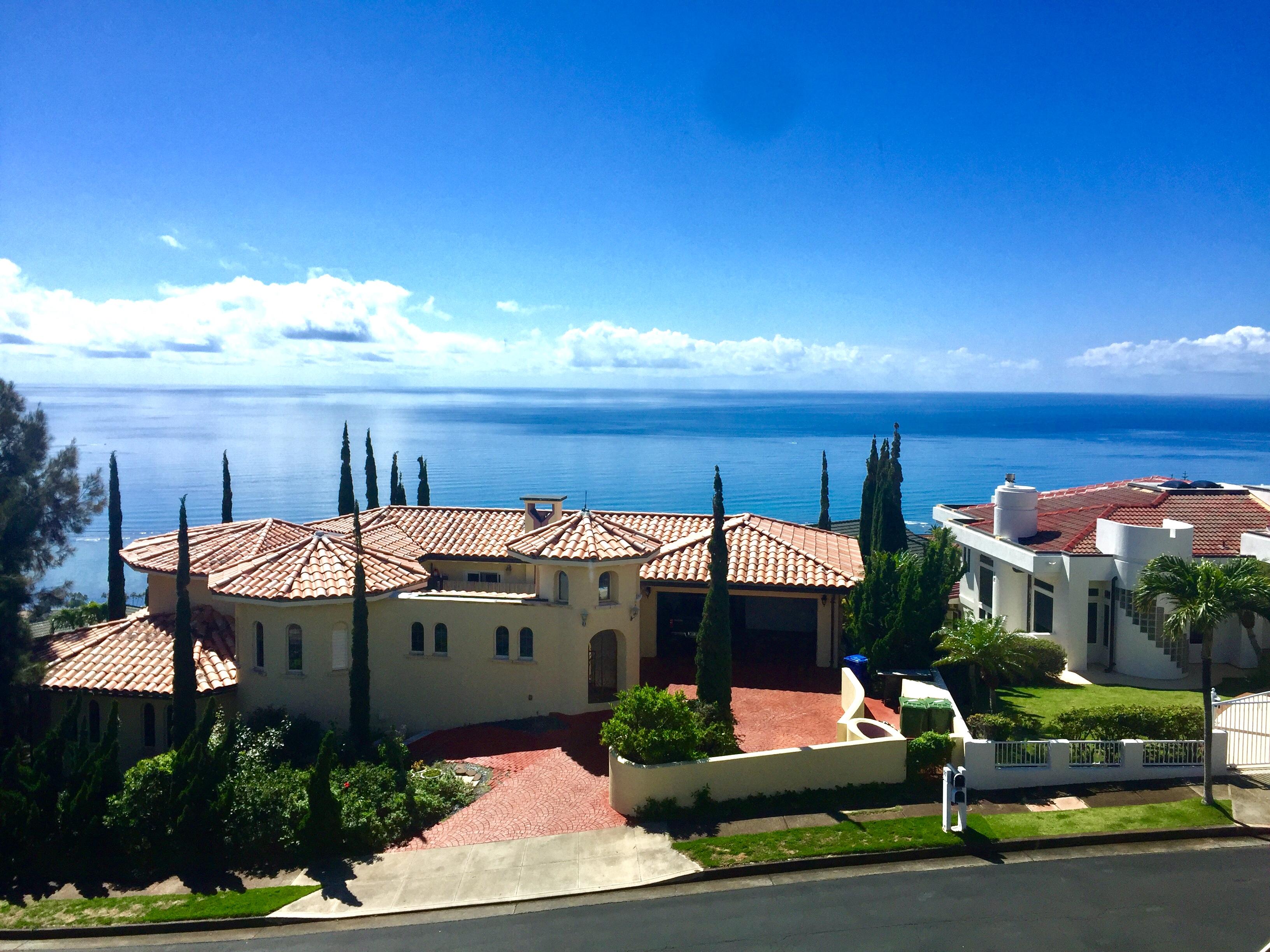 Ocean View from Hawaii Loa Ridge Home