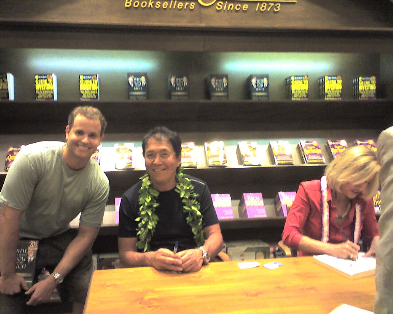 David with Robert and Kim Kiyosaki