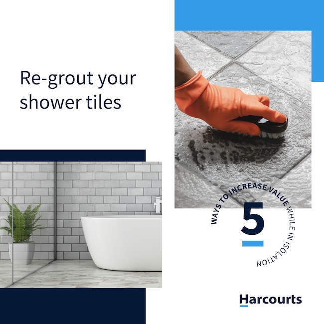 Re-Grout Shower Tiles