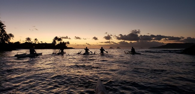 Sunrise paddle in Kailua