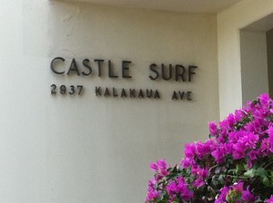 Castle Surf Sign