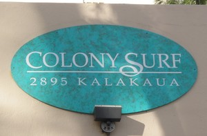 Colony Surf Sign