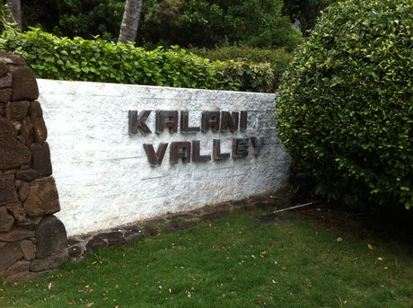 Entry to Kalani Iki Estates