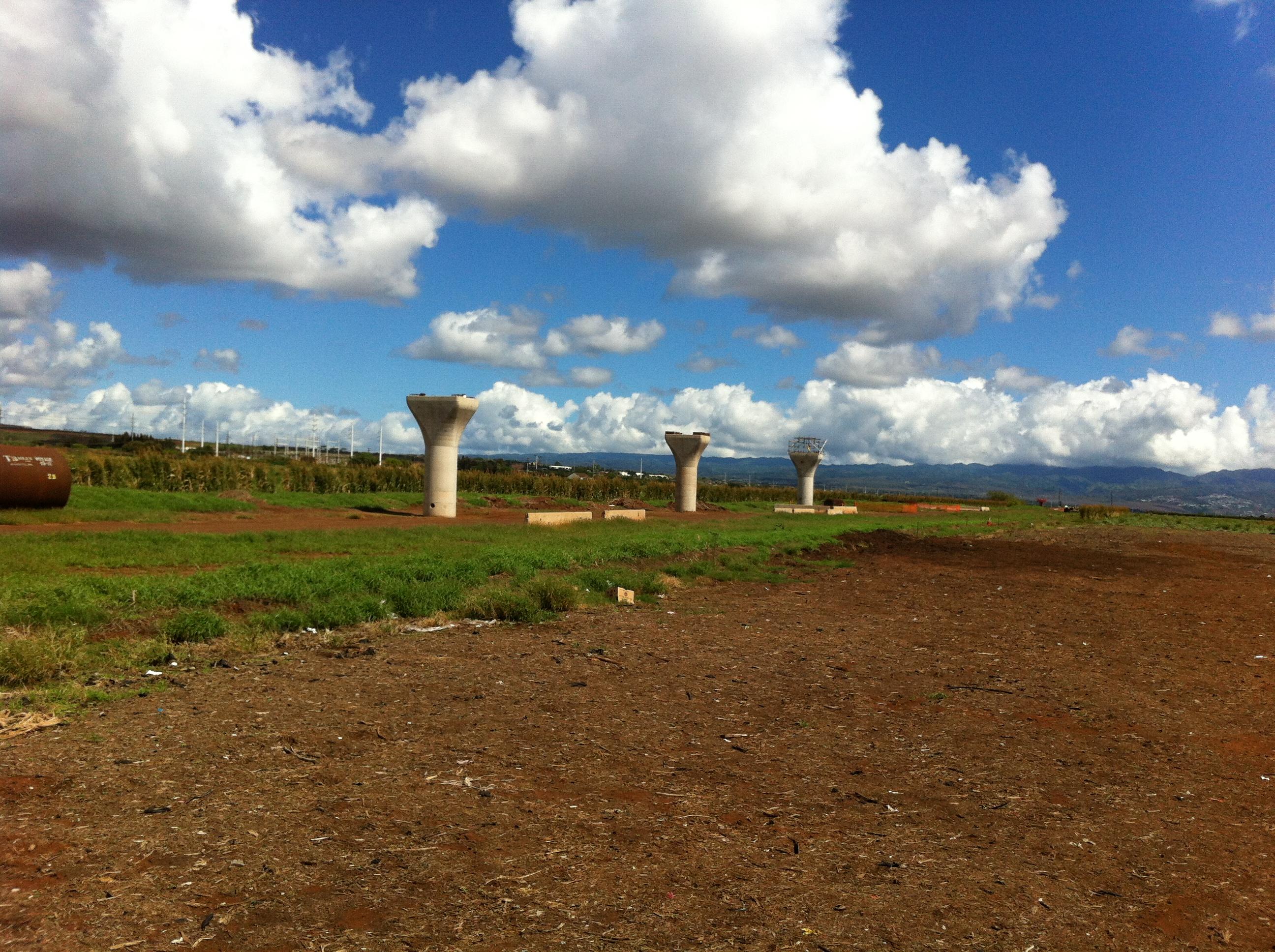 Rail Construction underway in West Oahu