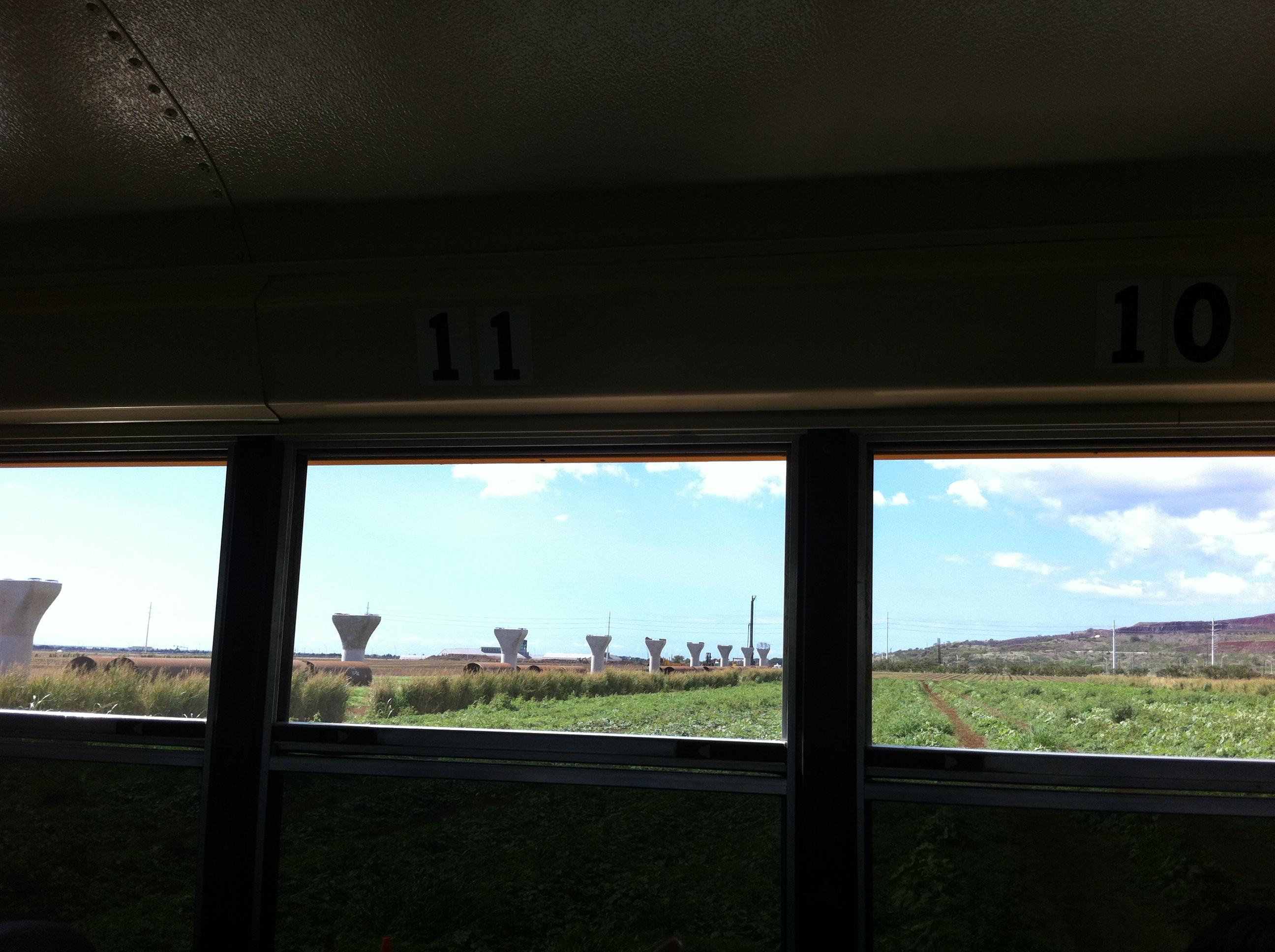 Honolulu Rail Pilings Seen on Ag Land