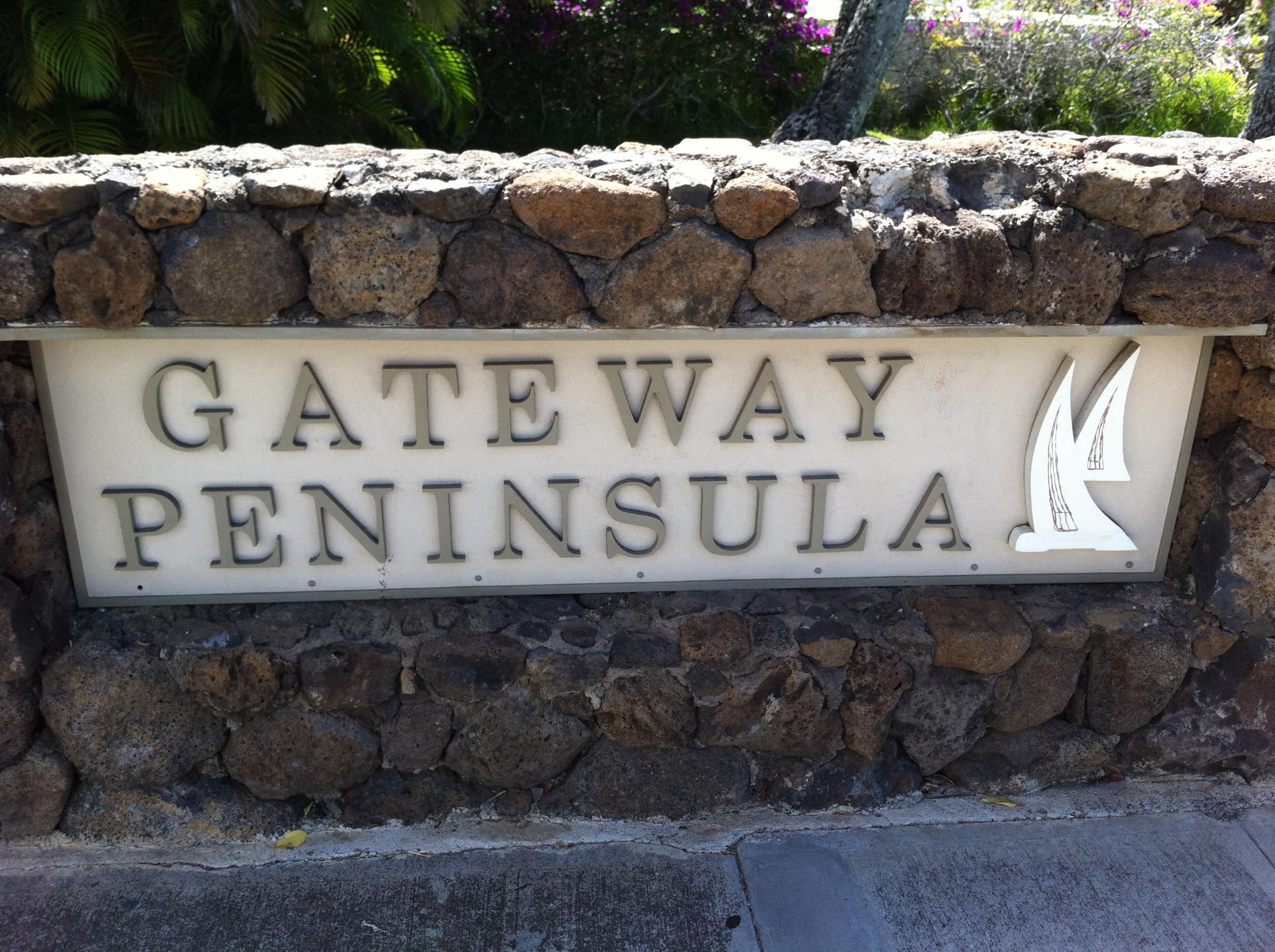 Gateway Peninsula Entry Sign