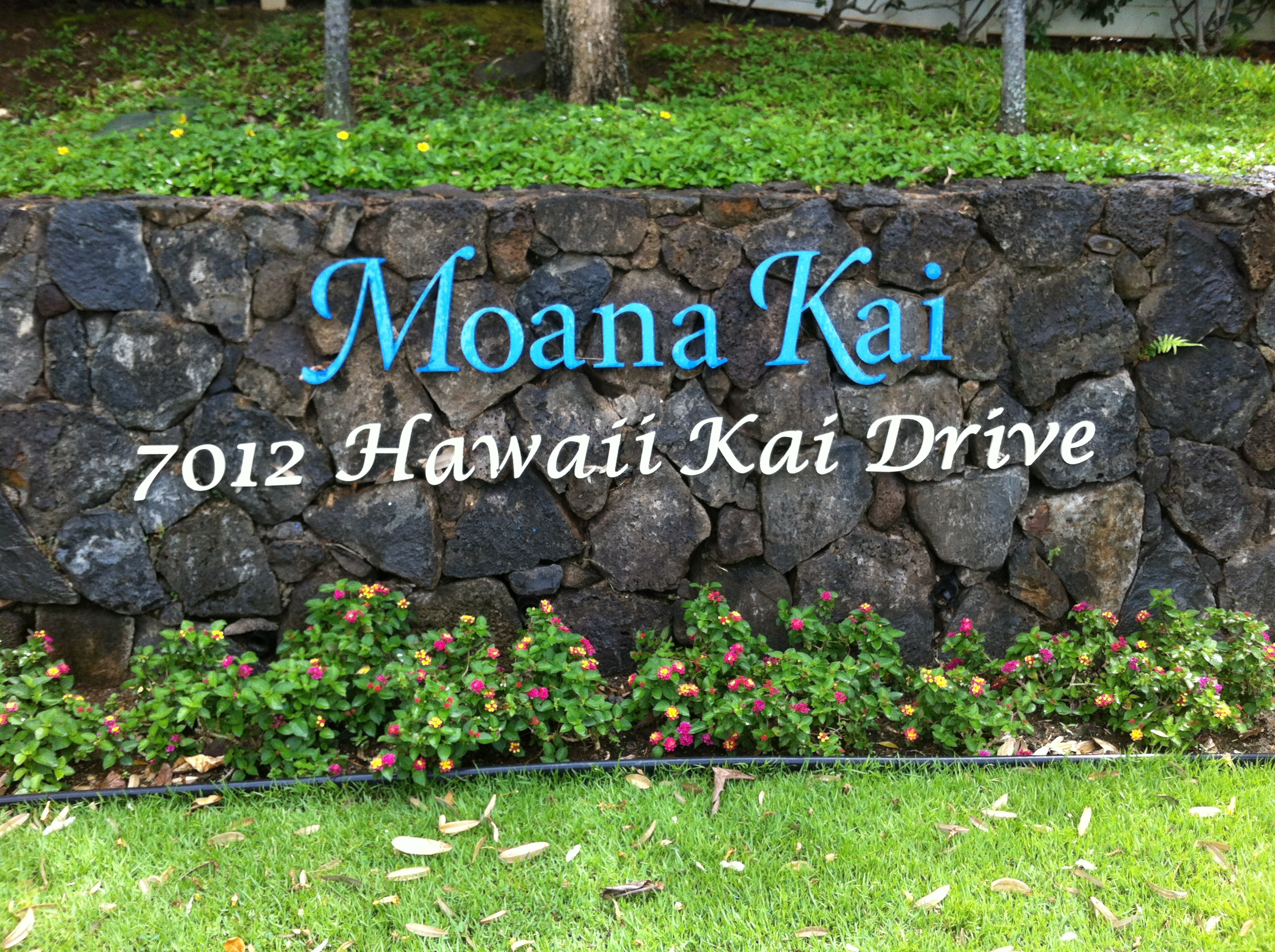 Moana Kai Entry Sign