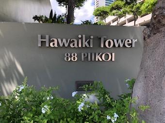Hawaiki Tower Sign
