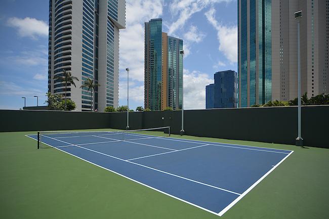 Hawaiki Tower Tennis Court