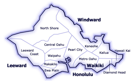 Regions of Oahu for Honolulu Board of Realtors MLS