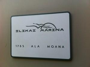 Ilikai Marina Sign