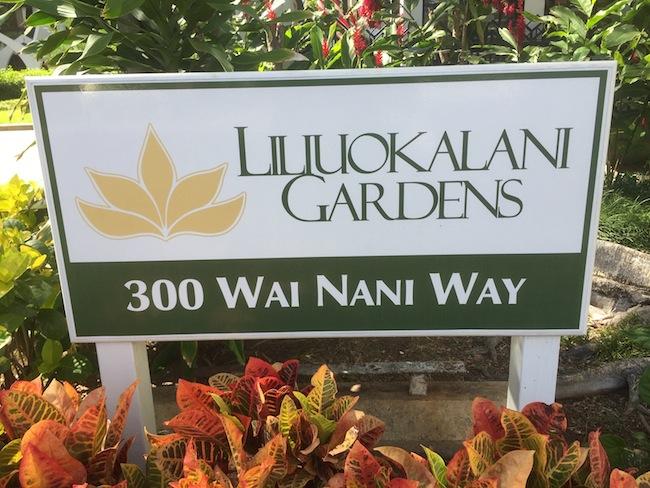 Liliuokalani Gardens Sign