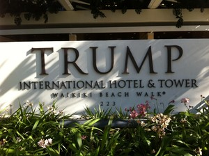 Trump Tower Waikiki Sign