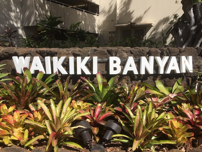 Waikiki Banyan Sign