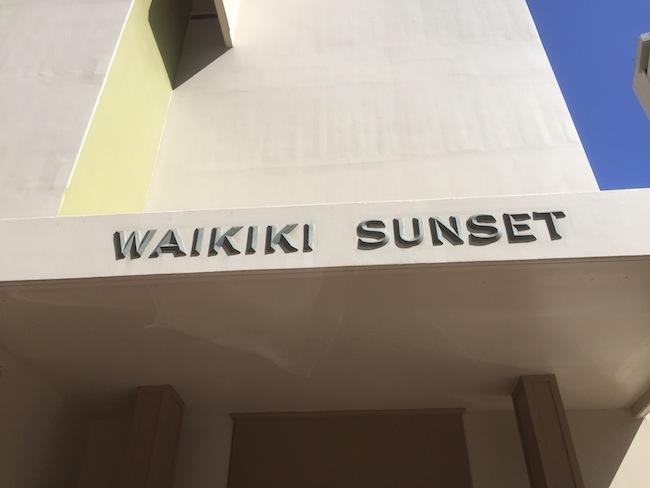 Waikiki Sunset Sign