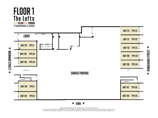 The Block 803 Floor Plan 1