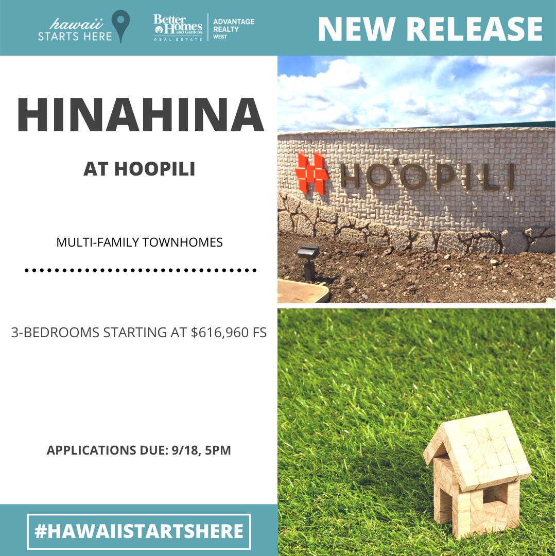 Hinahina at Hoopili Release 9/11/20