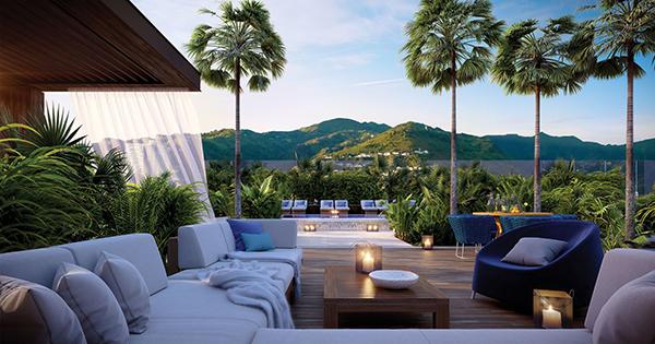 Mandarin oriental hotel terrace