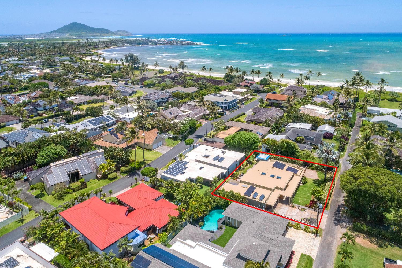 Arial View - 812 N Kalaheo Ave #F, Kailua