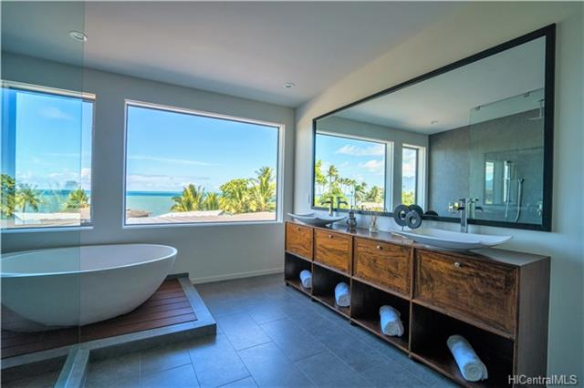 Kaneohe Home Bathroom with Ocean Views
