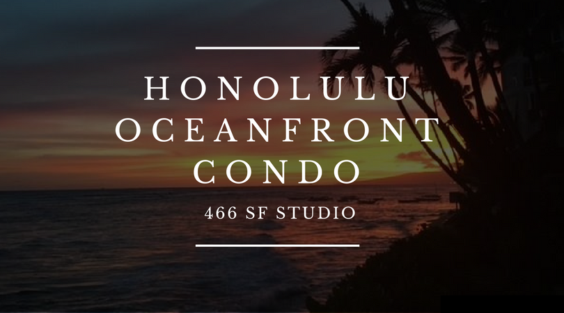Oceanfront Diamond Head Condo